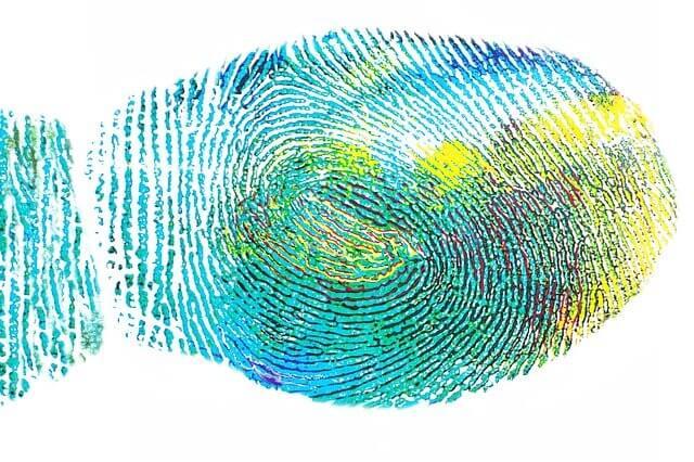 טביעת אצבע צבעונית